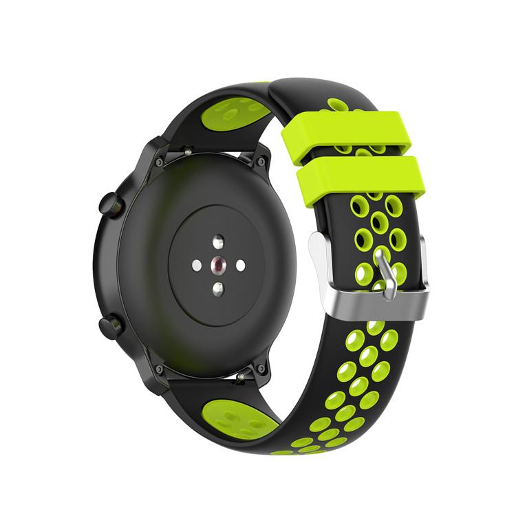 Řemínek š.20mm Samsung Watch 42mm,Xiaomi GTS,GTR 42mm Motiv, barva náramku: Barva kombinace zelená s černou