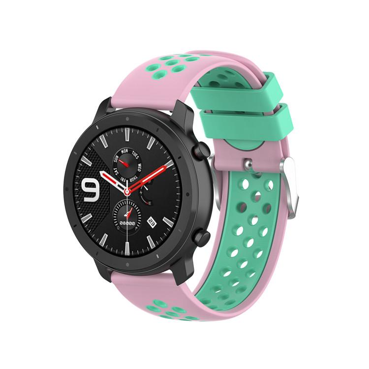Řemínek š.20mm Samsung Watch 42mm,Xiaomi GTS,GTR 42mm Barva: sv.růžová s mentolovou
