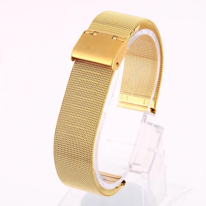 Náhradní řemínek celokovový šířka 22 mm Samsung Galaxy Watch 3 Huawei Watch GT 2 PRO Xiaomi GTR 47 mm a další 2206 Barva: zlatá