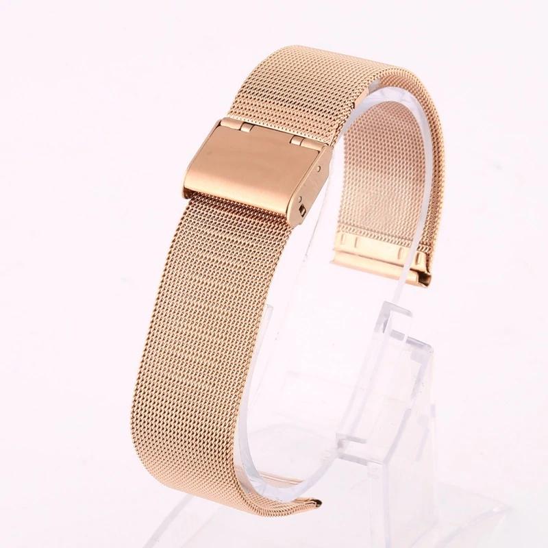 Náhradní řemínek celokovový šířka 22 mm Samsung Galaxy Watch 3 Huawei Watch GT 2 PRO Xiaomi GTR 47 mm a další 2206 Barva: růžové zlato