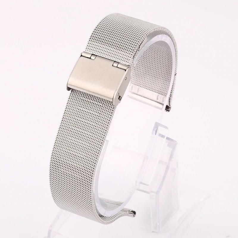 Náhradní řemínek univerzální nerezový šířka 20 mm Samsung Galaxy Watch 42 mm Xiaomi GTS GTR 42 mm BIP a další 2006 Barva: stříbrná, Zapínání náramku:…