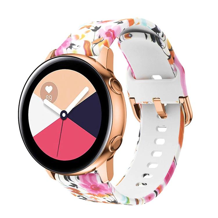 Náhradní řemínek univerzální s potiskem šířka 20 mm Samsung Galaxy Watch 42 mm Xiaomi GTS GTR 42 mm