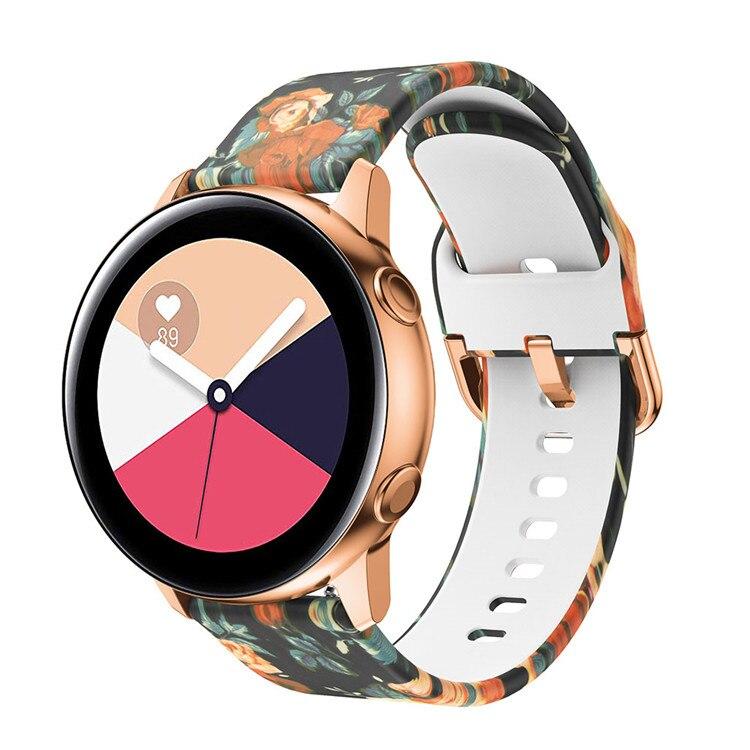 Náhradní řemínek univerzální s potiskem šířka 20 mm Samsung Galaxy Watch 42 mm Xiaomi GTS GTR 42 mm BIP a další 2005 Barva: Motiv růže