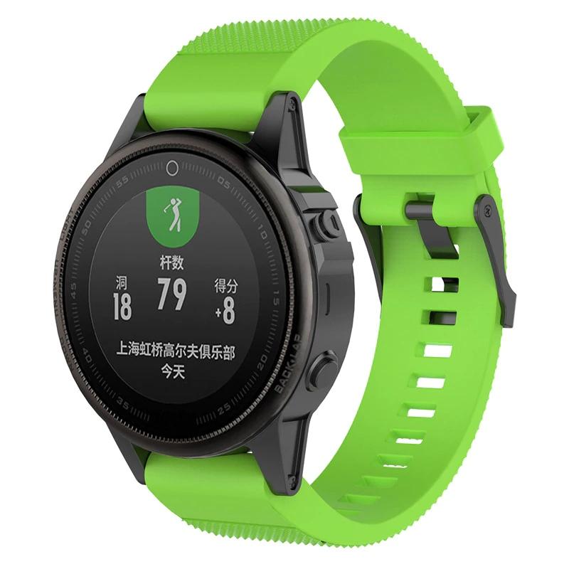 Garmin Fenix 5S i Fenix 6S náhradní řemínek různé barvy Barva: Zelená s černou přezkou