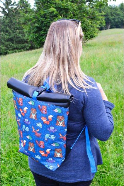 Rolovací batoh modrý