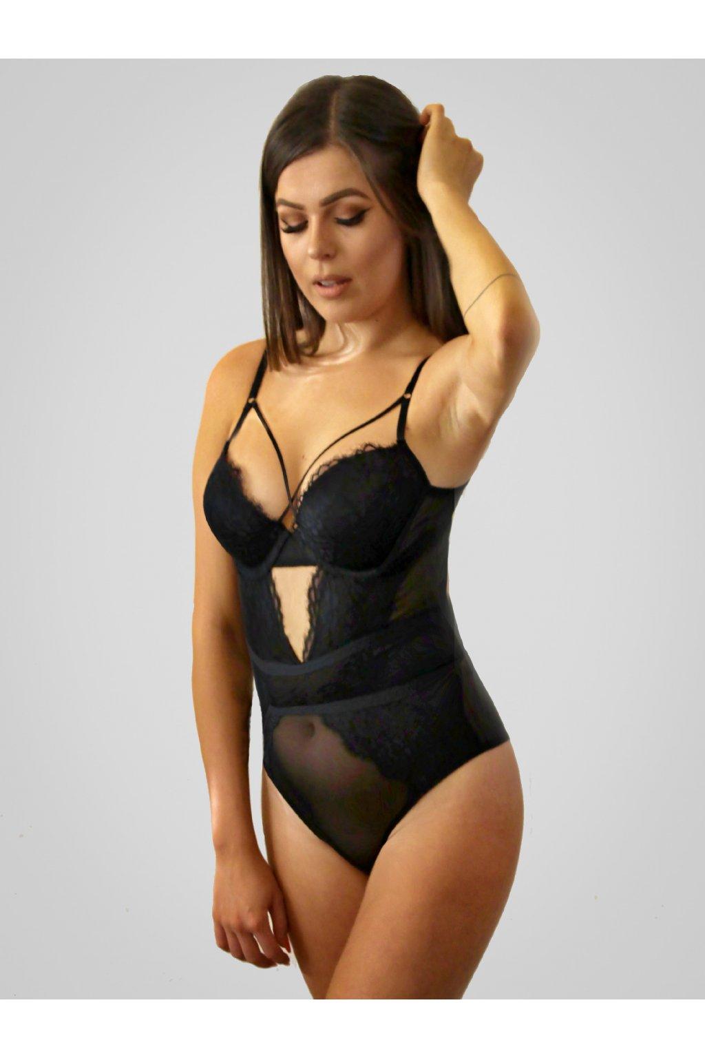 Elegantní body RAYURE noir