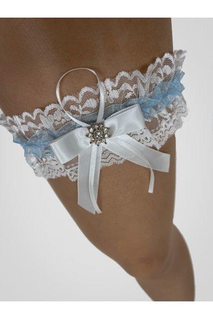 Modrý podvazek Bride
