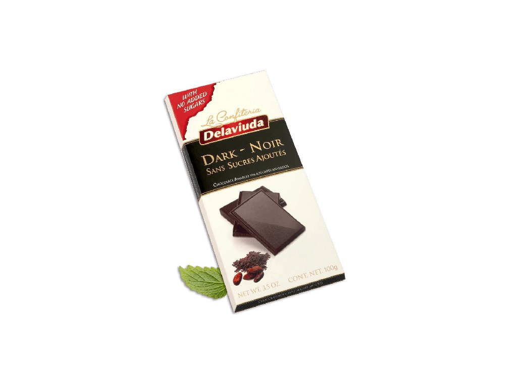 tableta chocolate negro sin azucar estuche