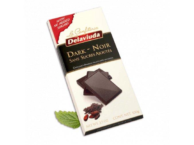 tableta chocolate negro sin azucar estuche