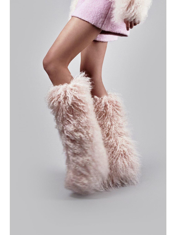 FTD pink fur sleeves
