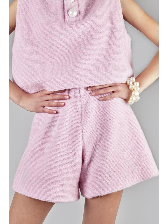 Apresski wool shorts