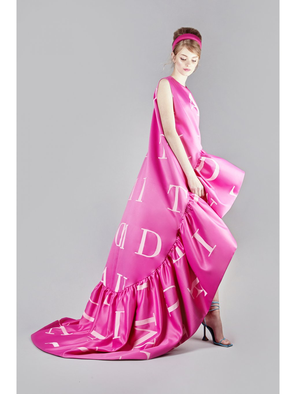 Red carpet sketch dress