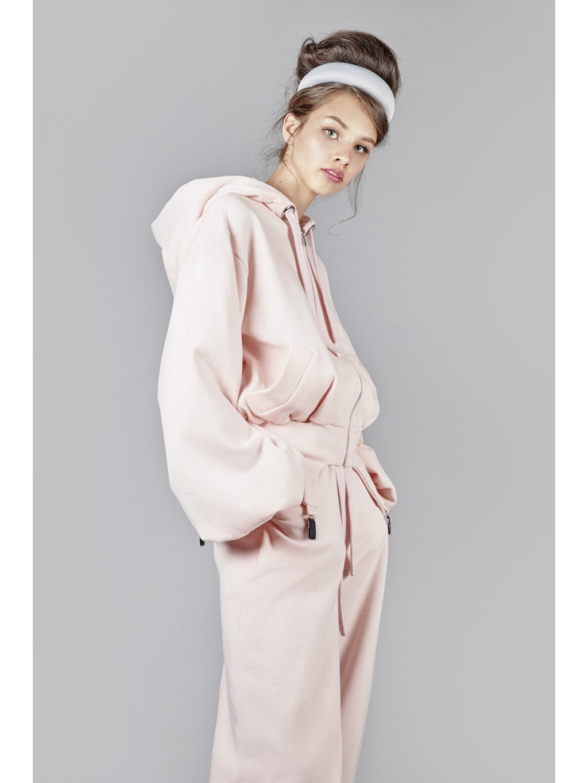 Vandahood hoodie with zip pink