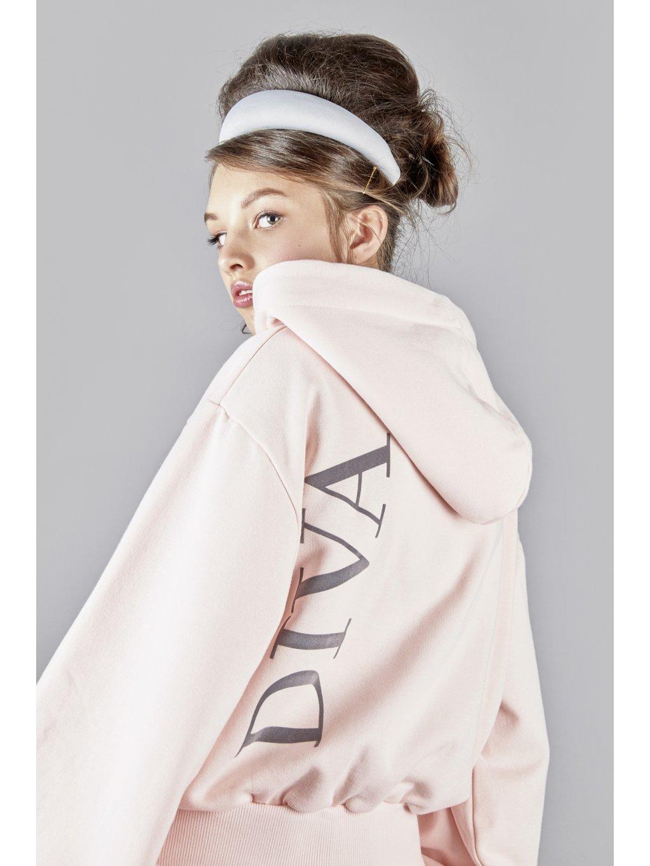 Vandahood hoodie without zip pink