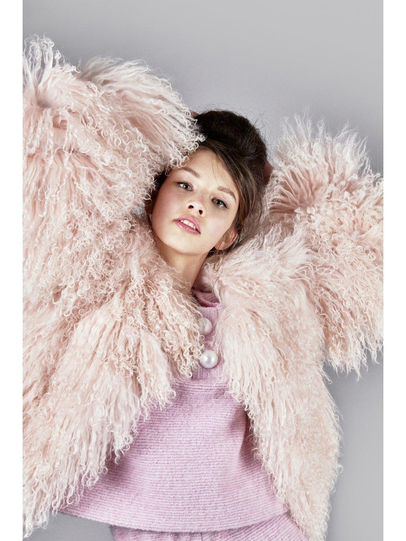 FTD pink fur coat