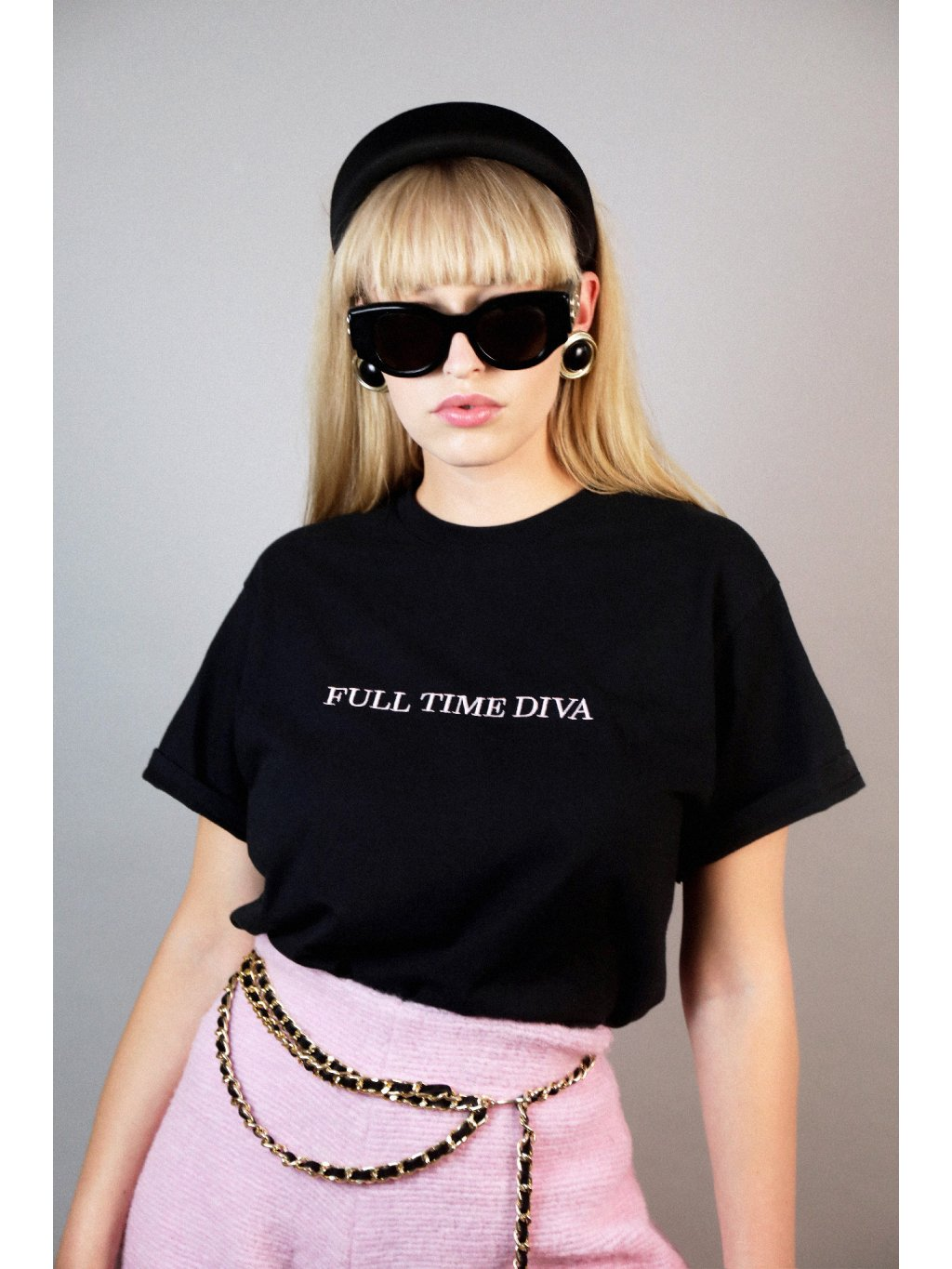 Full time diva t-shirt embroidered
