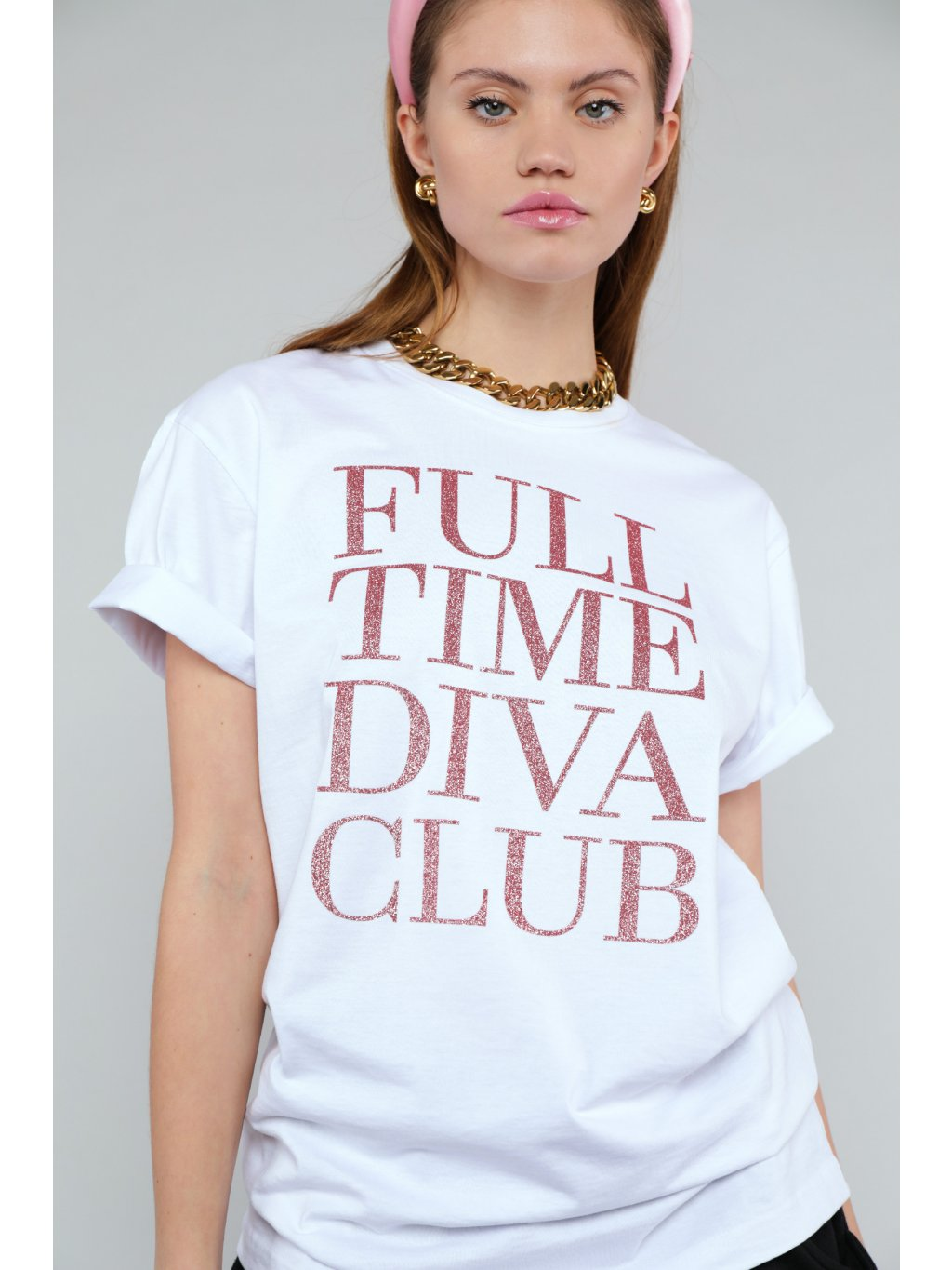 FULL TIME DIVA CLUB sparkling T-shirt