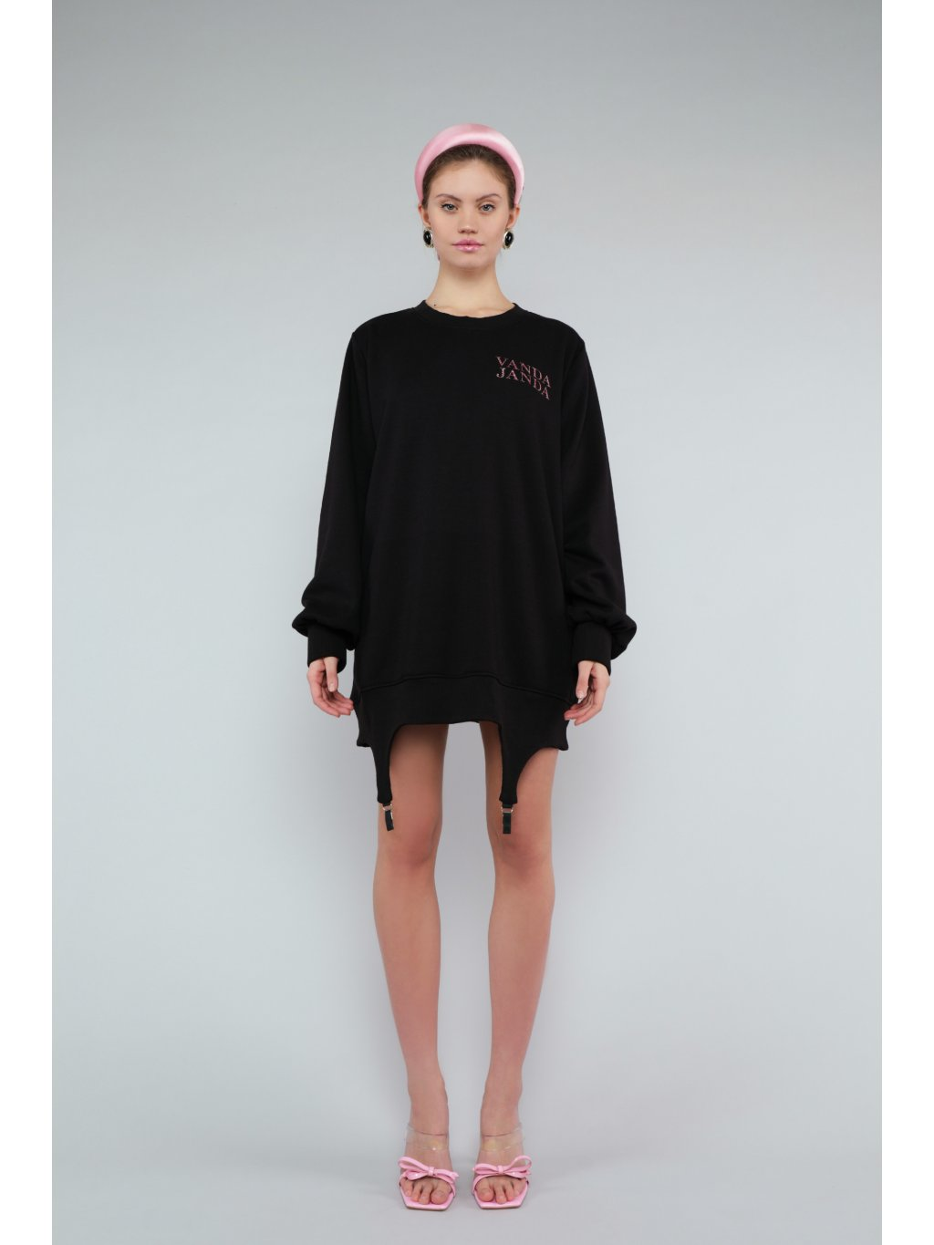 FULL TIME DIVA CLUB crewneck dress