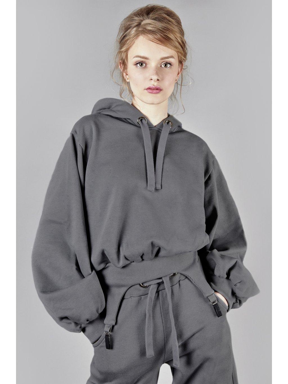 Vandahood hoodie without zip gray