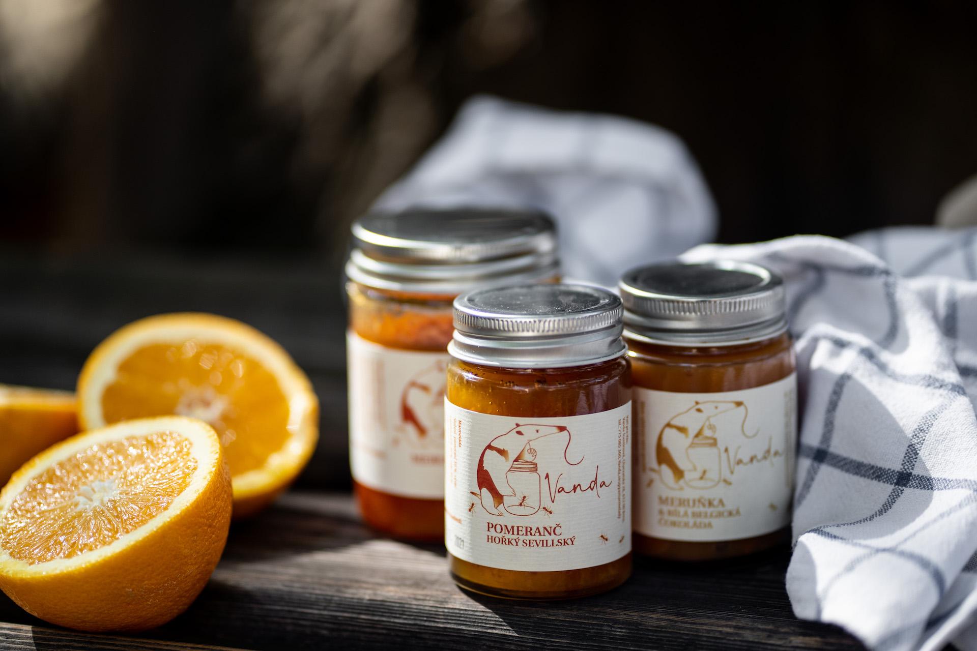 marmelády. citrus trio