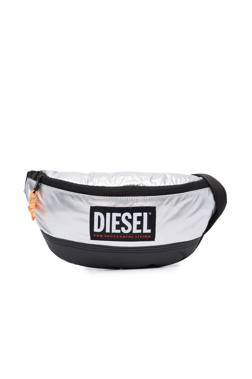 Pánská ledvinka Diesel Lyam Pat stříbrná