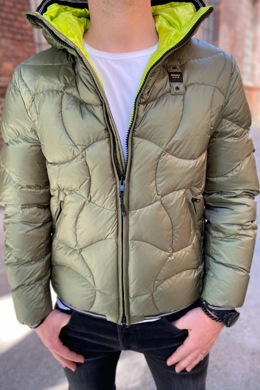 Pánská bunda Blauer 21WBLUC03070 khaki zelená