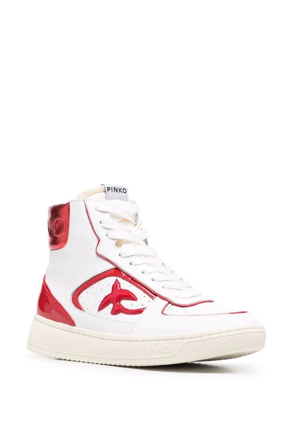 Dámské tenisky Pinko Harlow Basket High bílo červené