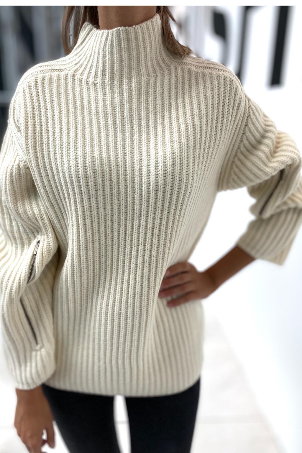 Dámský pletený svetr Michael Kors MF1605CFJU krémový