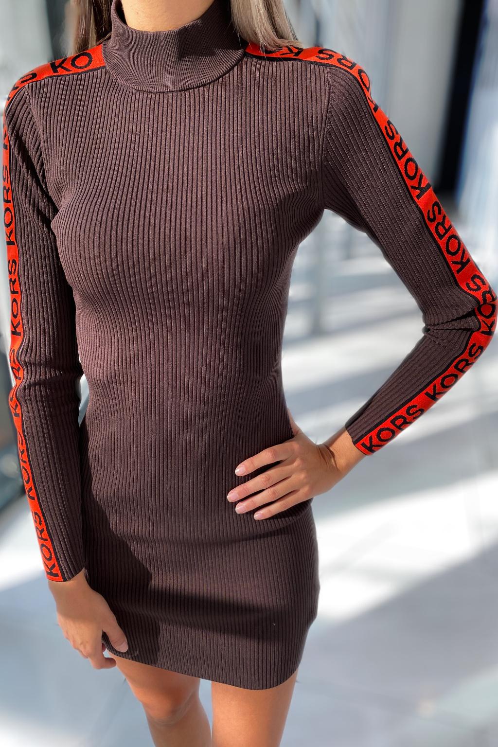 Dámské šaty Michael Kors MF180SF33D hnědé