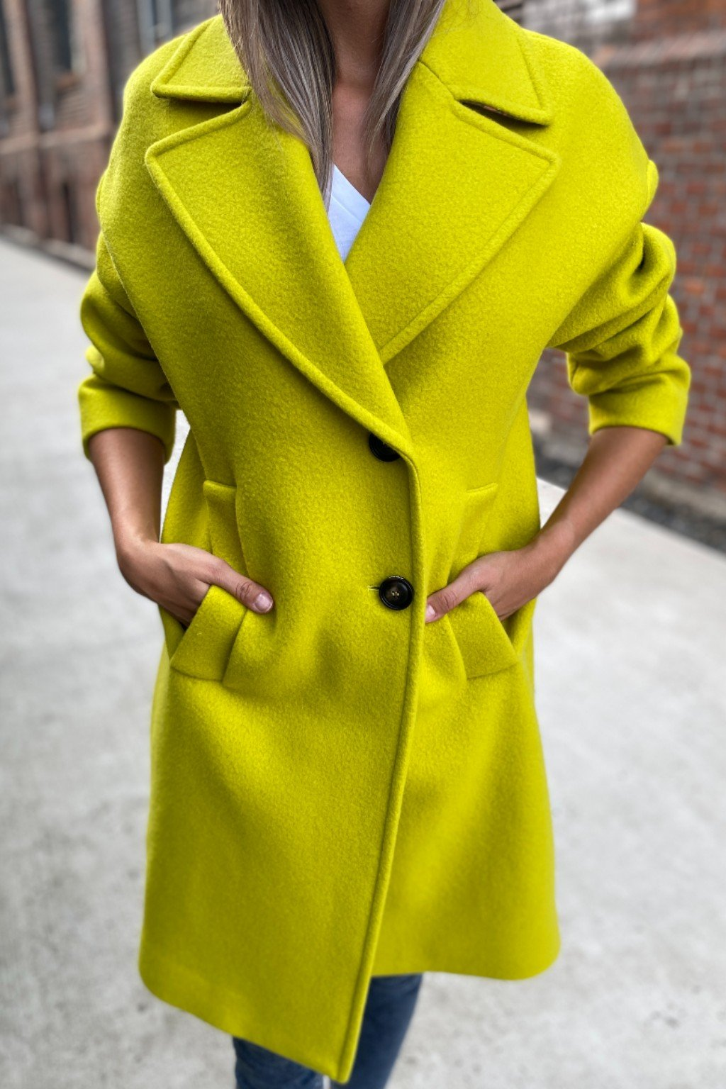 Dámský kabát Pinko 1N13AVY7XHT56 limetkový2