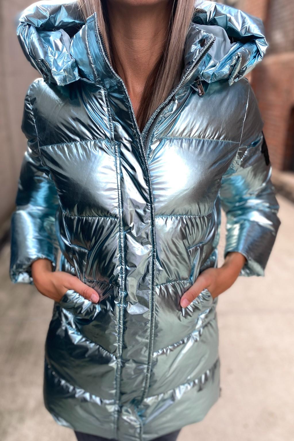 Dámská zimní bunda Pinko 1G16FBY76BPE52 modrá