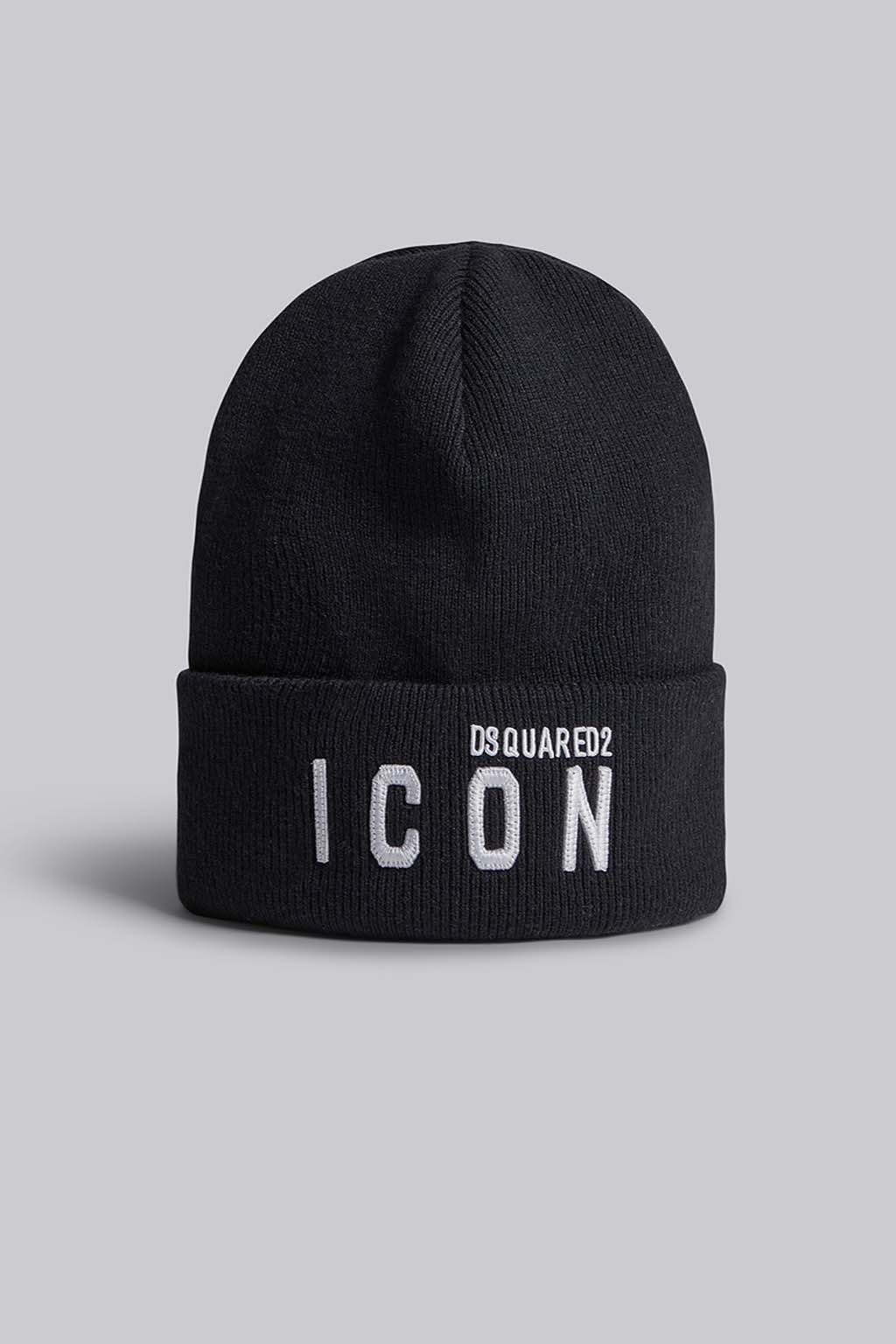 Pánská zimní čepice Dsquared2 Icon černá