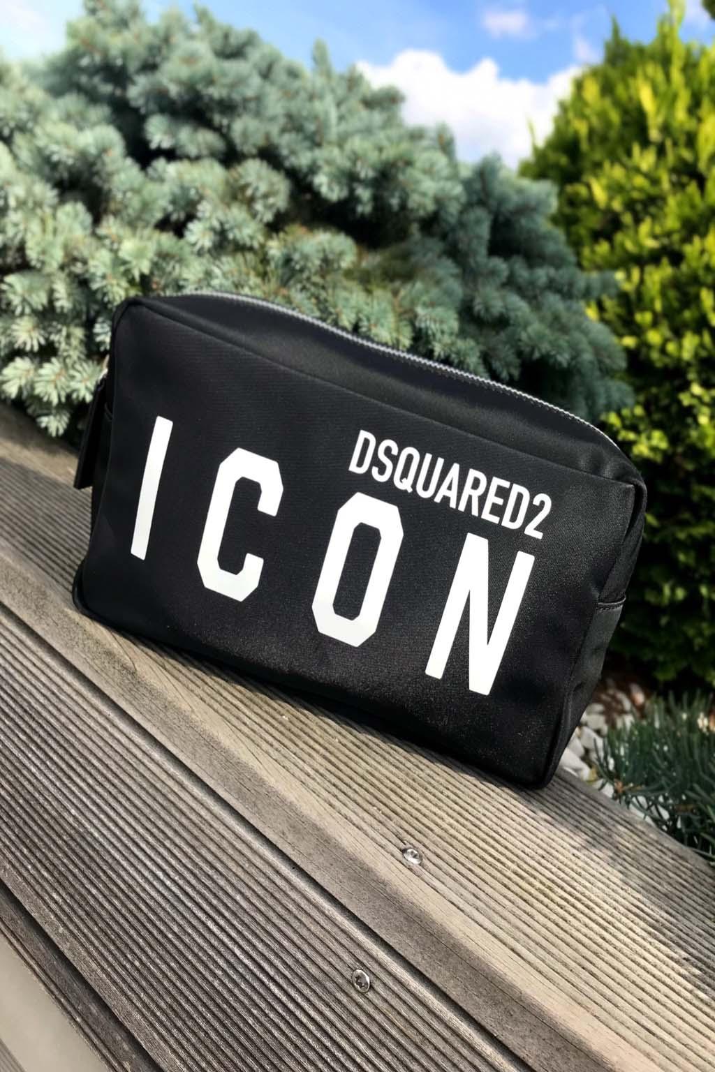 Unisex kosmetická taška Dsquared2 černá