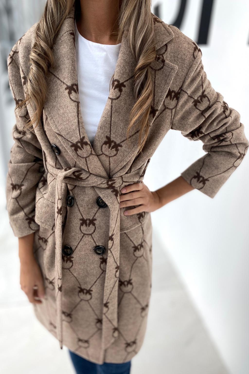 Dámsky kabát Pinko 1N13AUY82WCL1 béžový