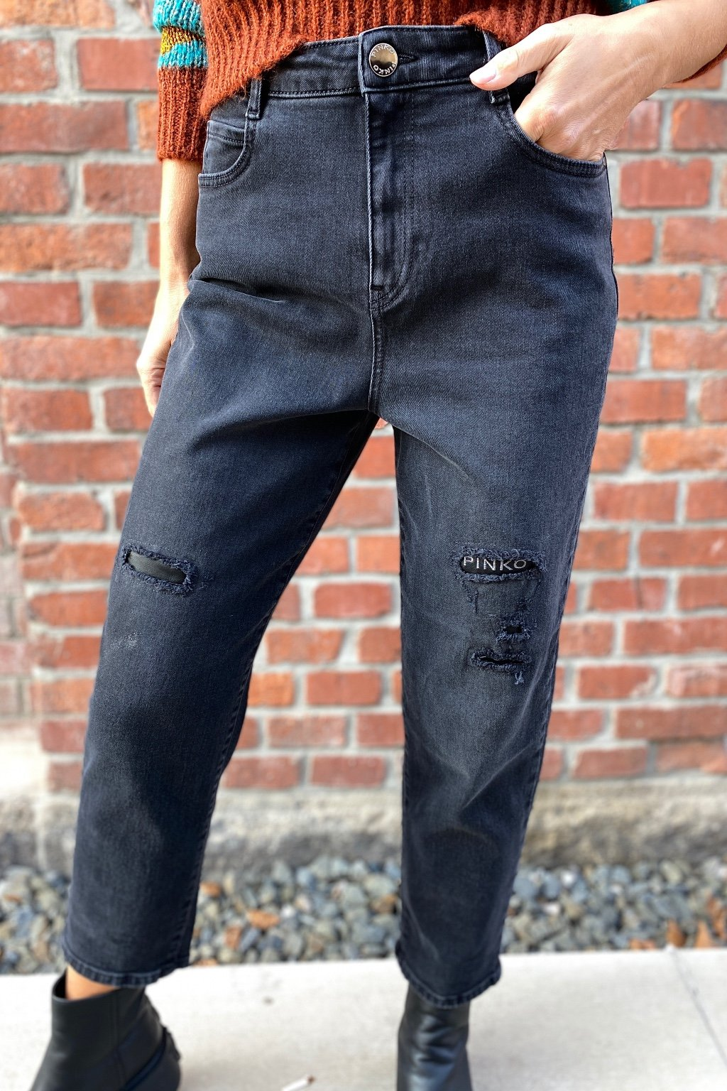 Dámské džíny Pinko 1J10PLY78WZ99 MADDIE 22 černé