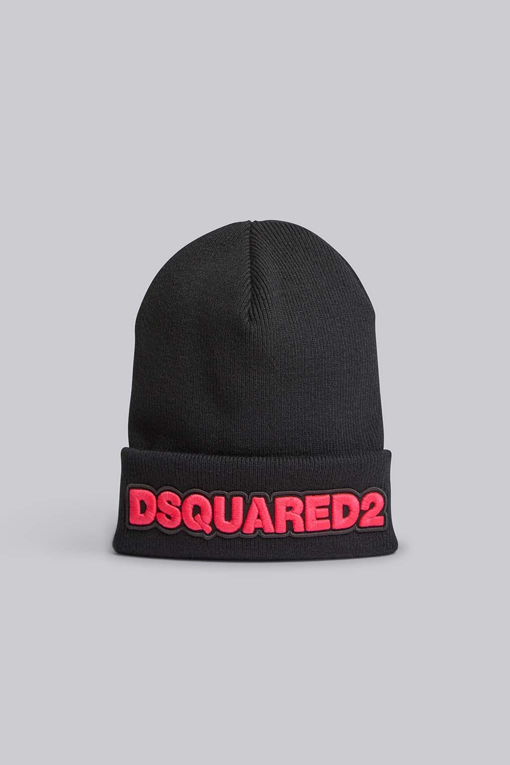 Dámská zimní čepice Dsquared2 Beanie černá2