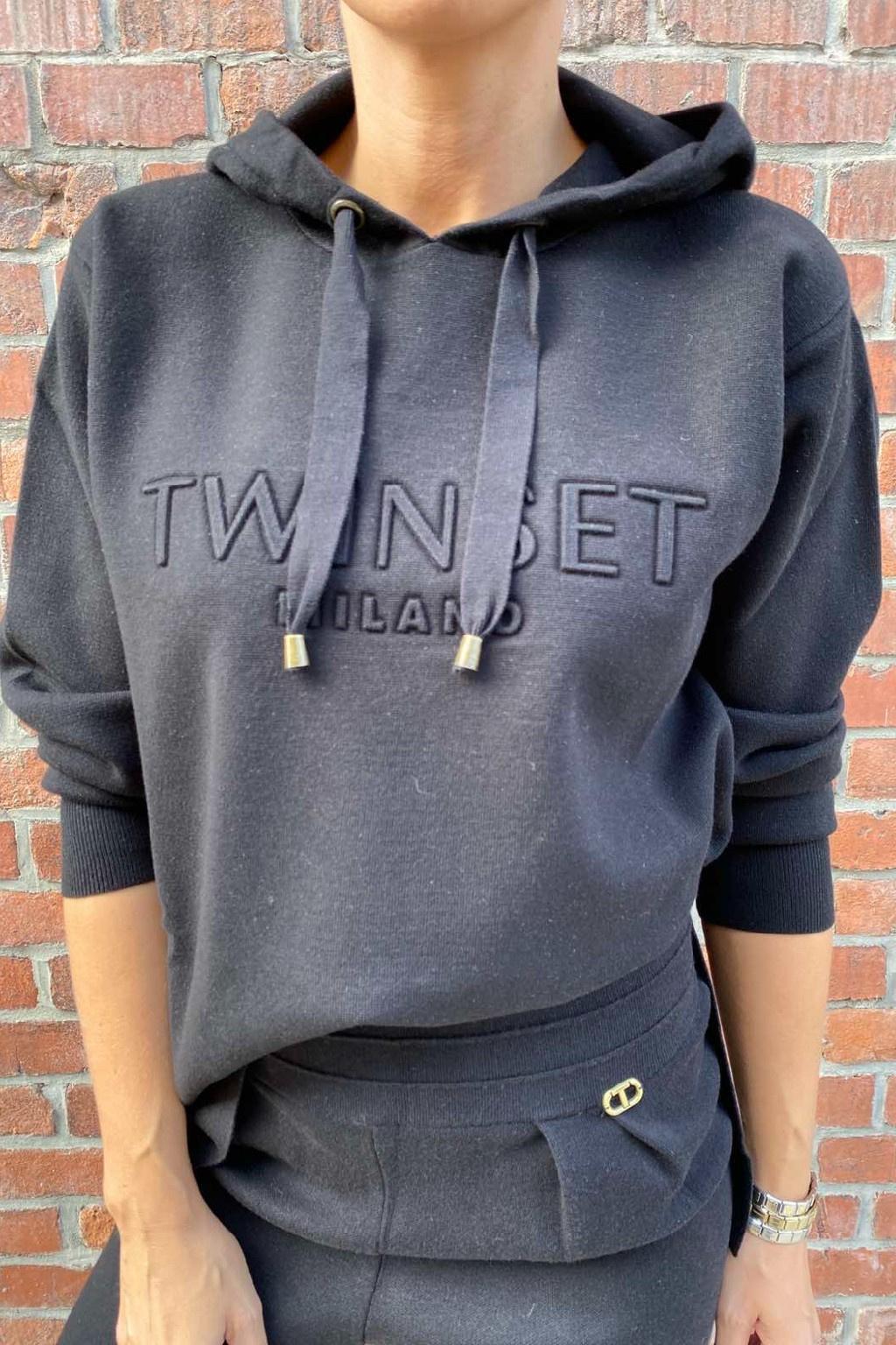 Dámská mikina Twinset 212TT3460 černá