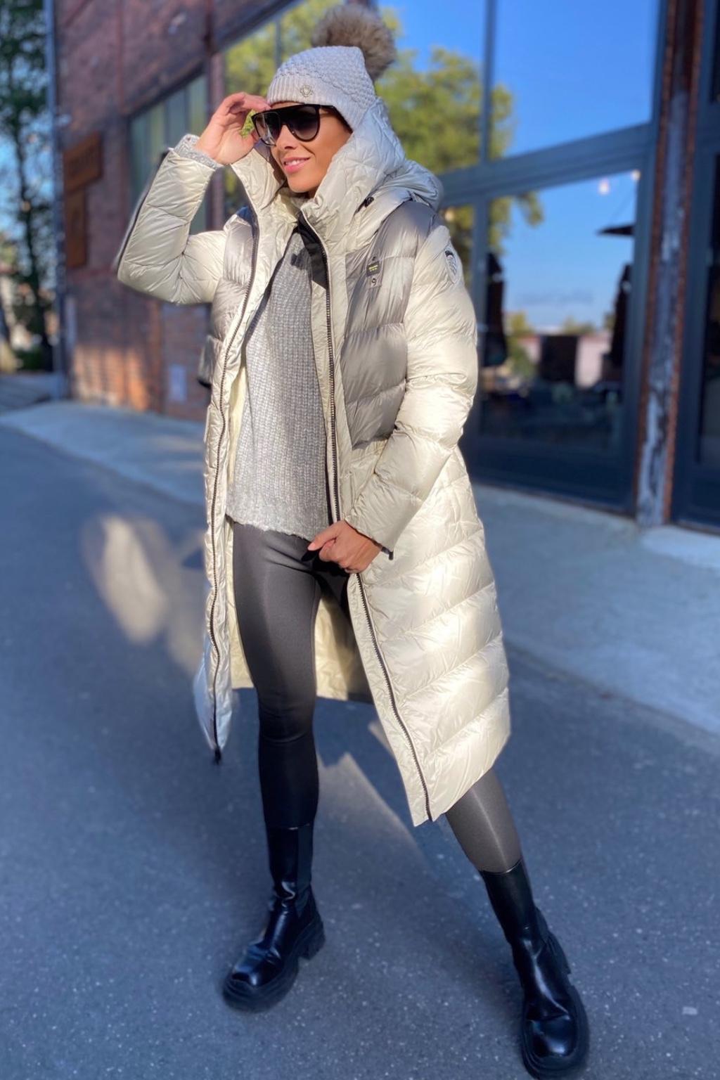 Dámská zimní bunda Blauer 21WBLDK03044 světle šedá