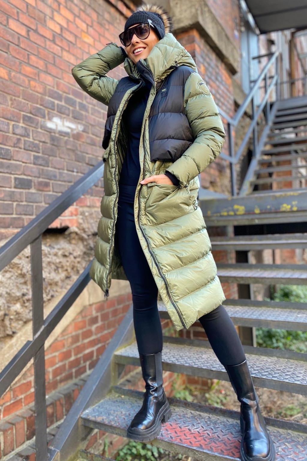 Dámská zimní bunda Blauer 21WBLDK03044 zelená