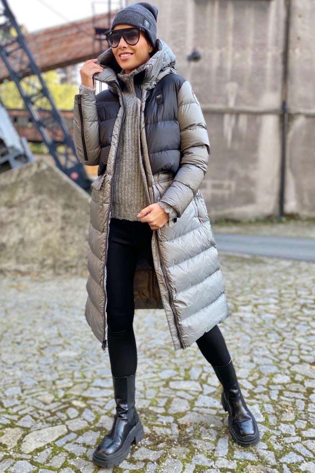 Dámská zimní bunda Blauer 21WBLDK03044 šedá 2