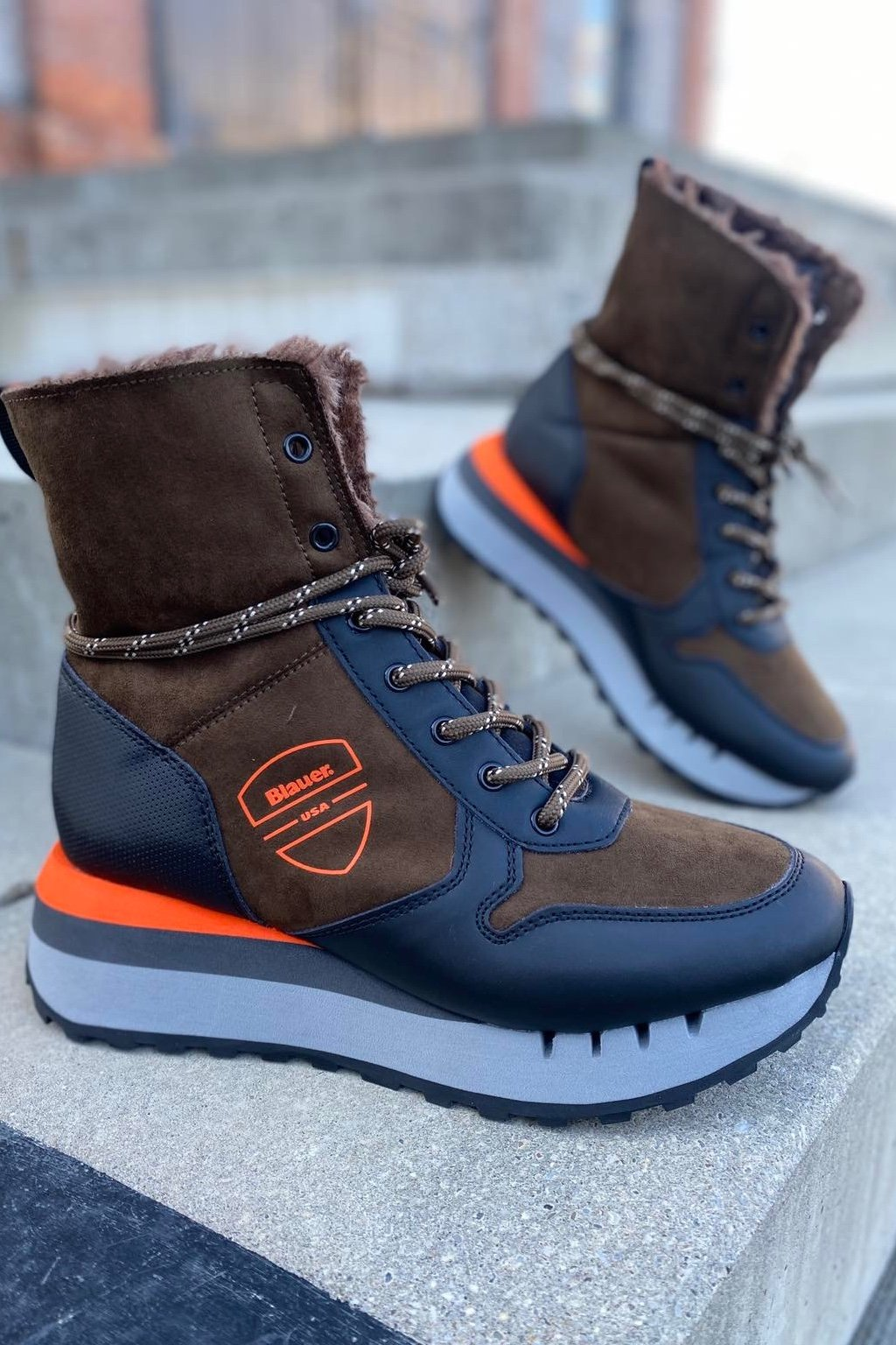 Dámská obuv Blauer F1CHARLEY03 SHE tmavě hnědé