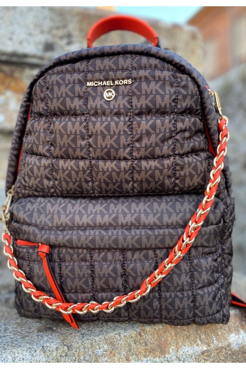 Dámský batoh Michael Kors 30F1G04B2U hnědý
