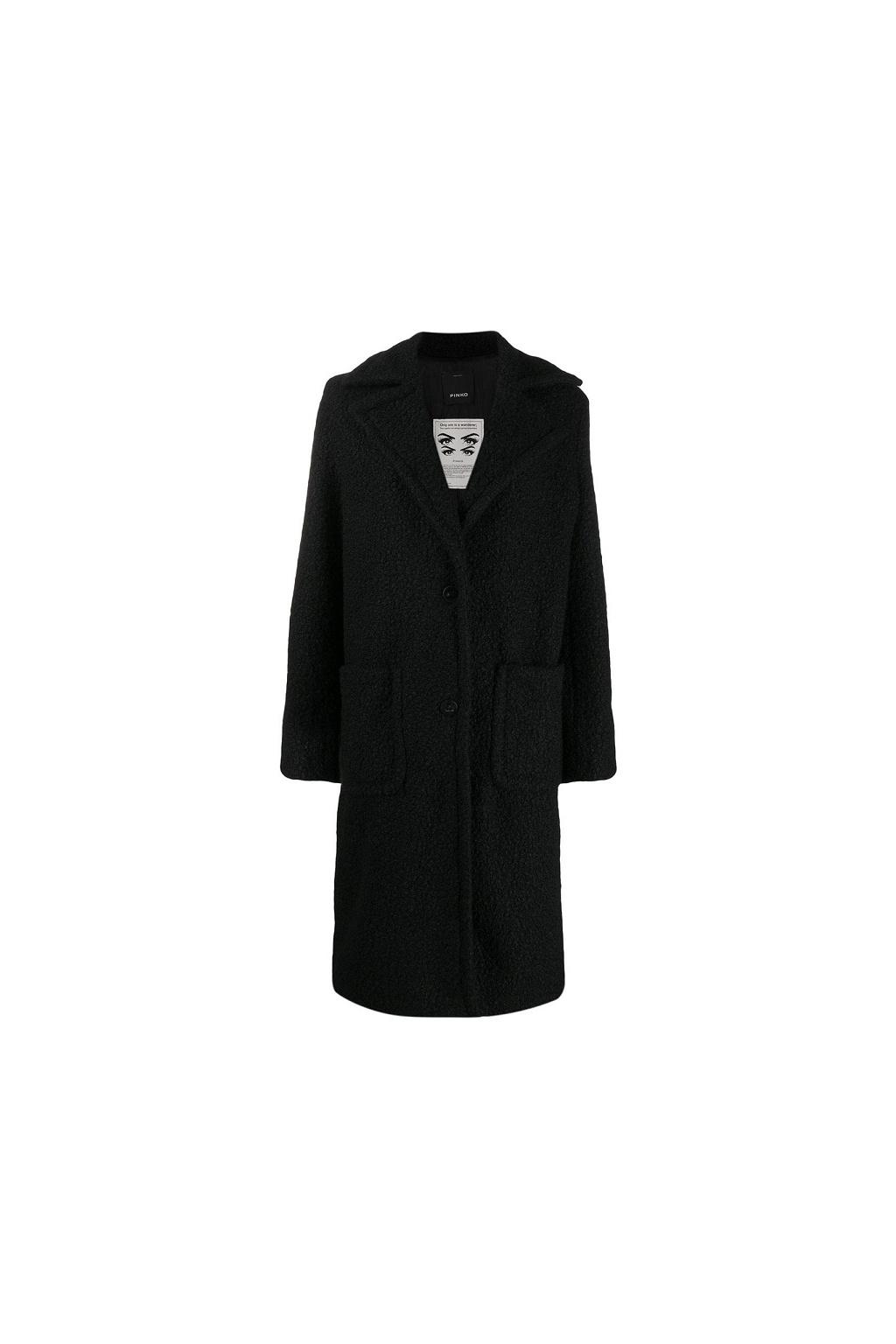 1B13ZF 7711 Pinko kabát Favola černý