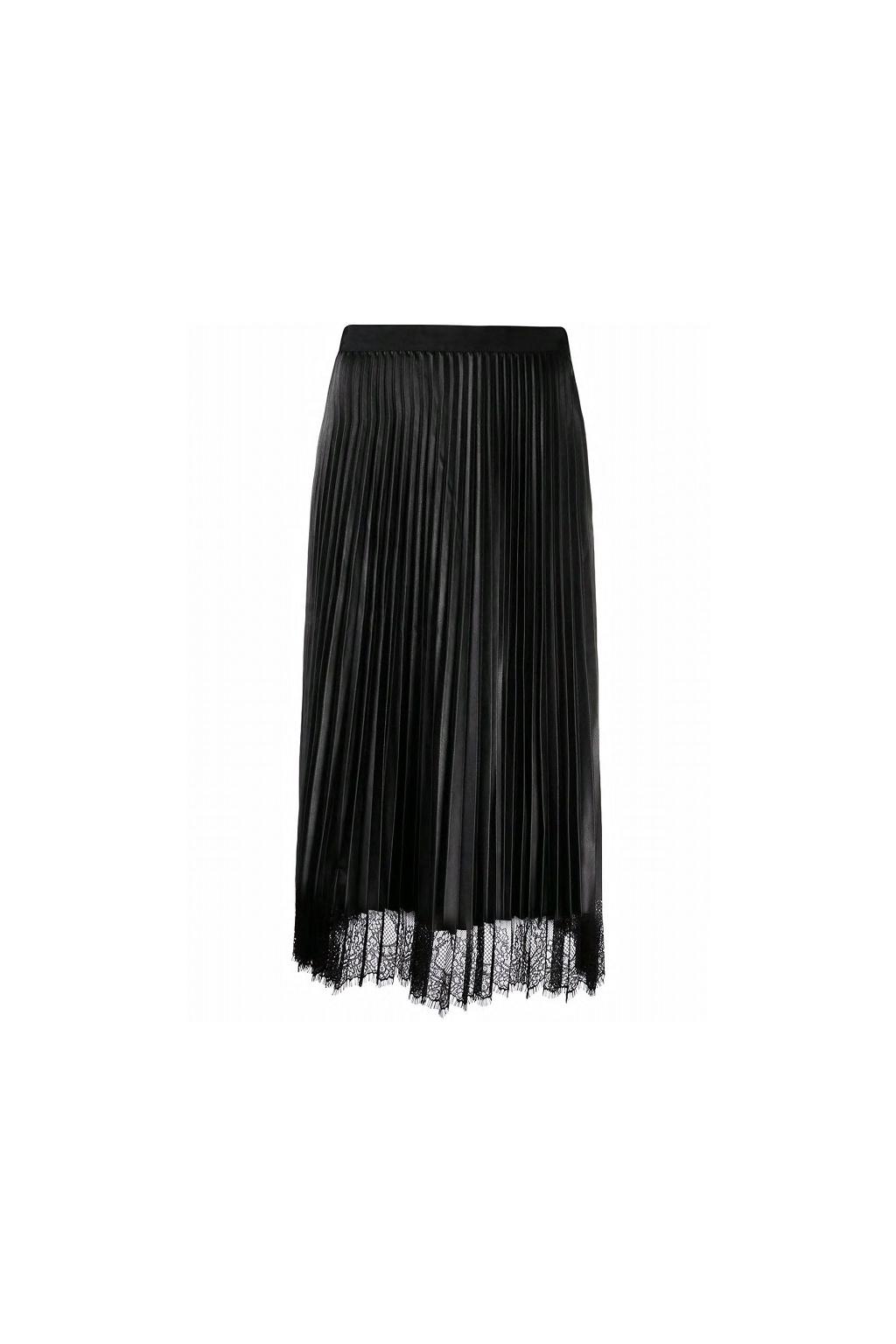 192TP2064 Twinset skládaná sukně černá