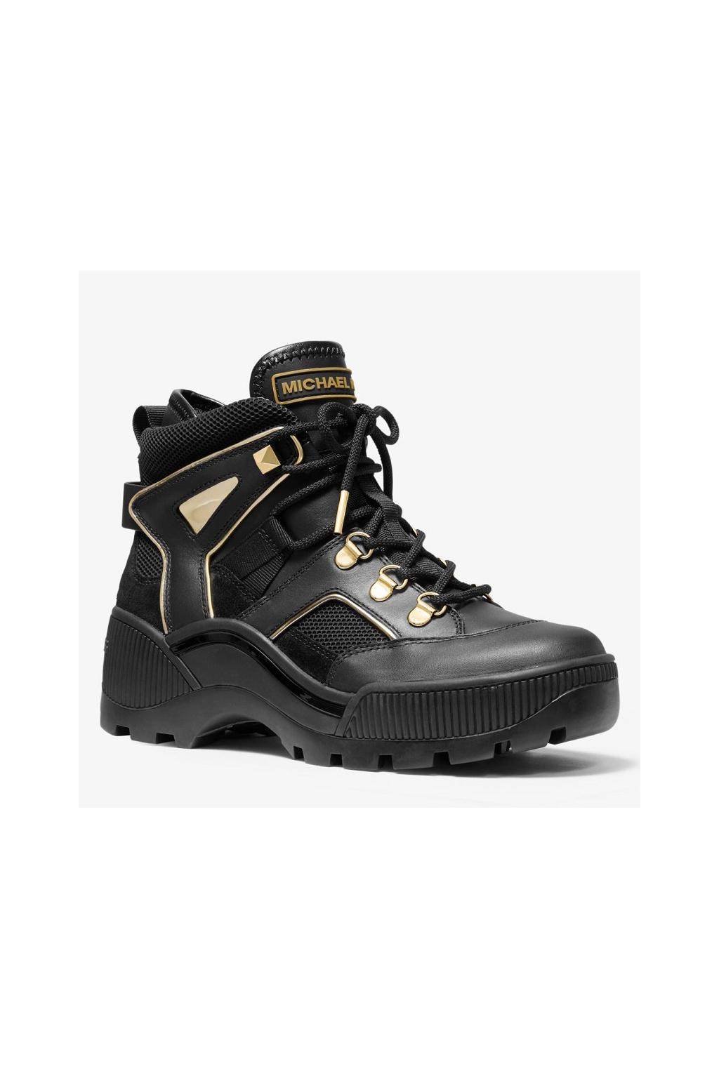 40F9BKFE3L Dámská obuv Michael Kors Brooke Metallic Leather Scuba černá