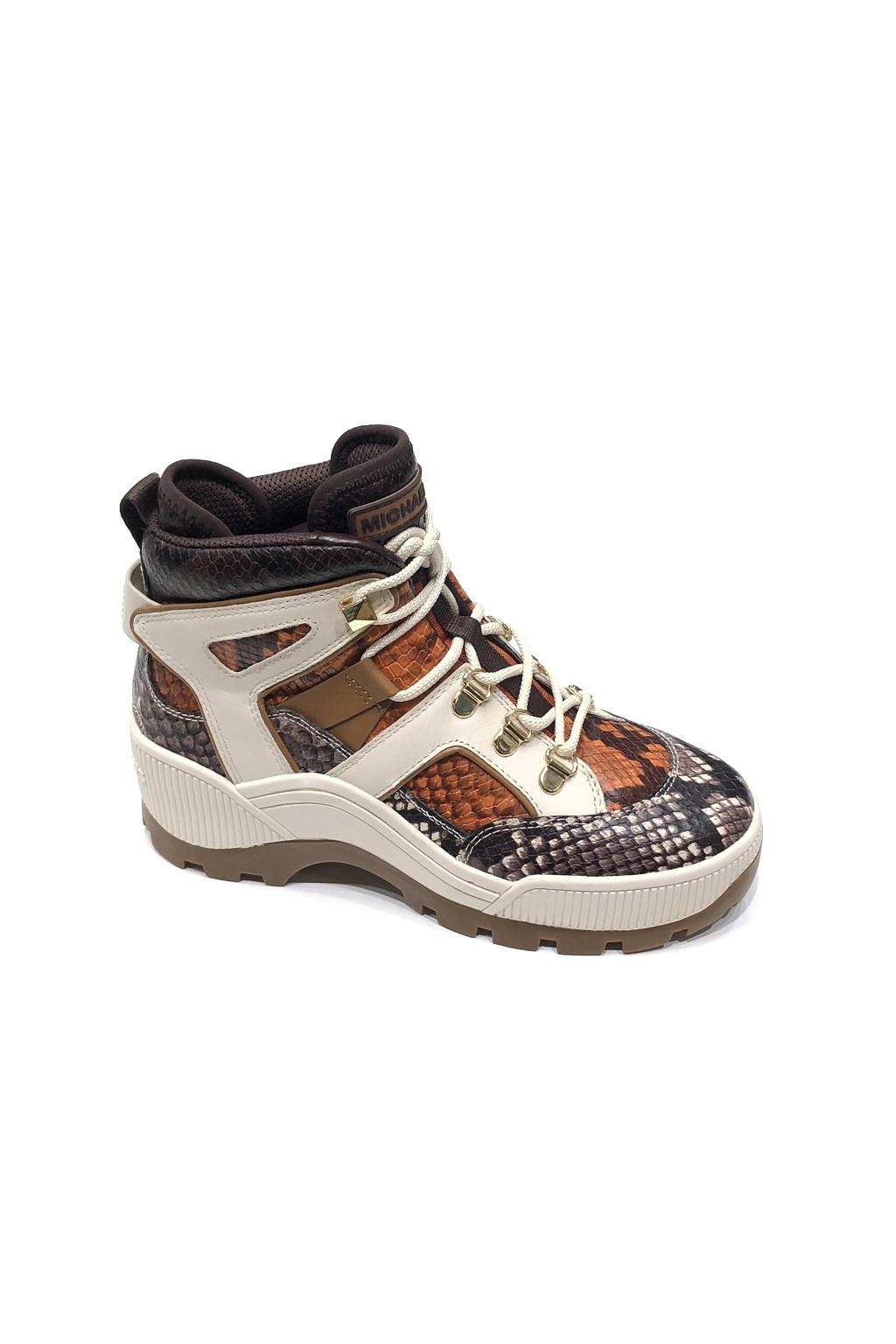 40F9BKFE1E Dámská obuv Michael Kors Brooke Embossed Leather oranžová