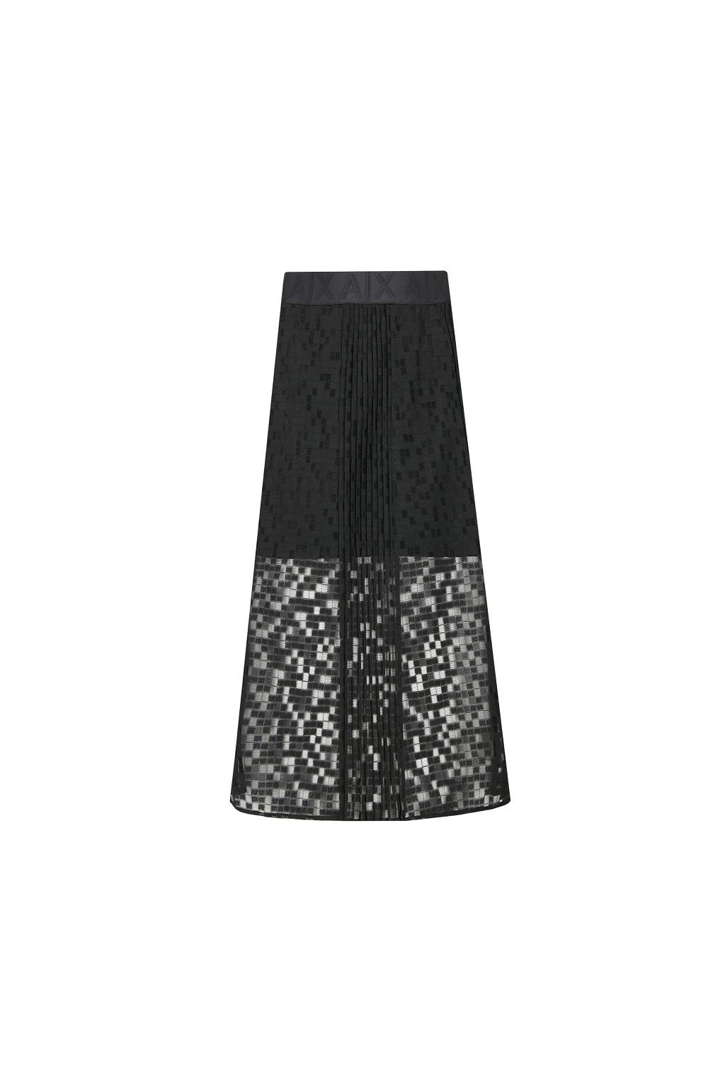 6GYN46 YNQTZ Dámská skládaná sukně Armani Exchange černá