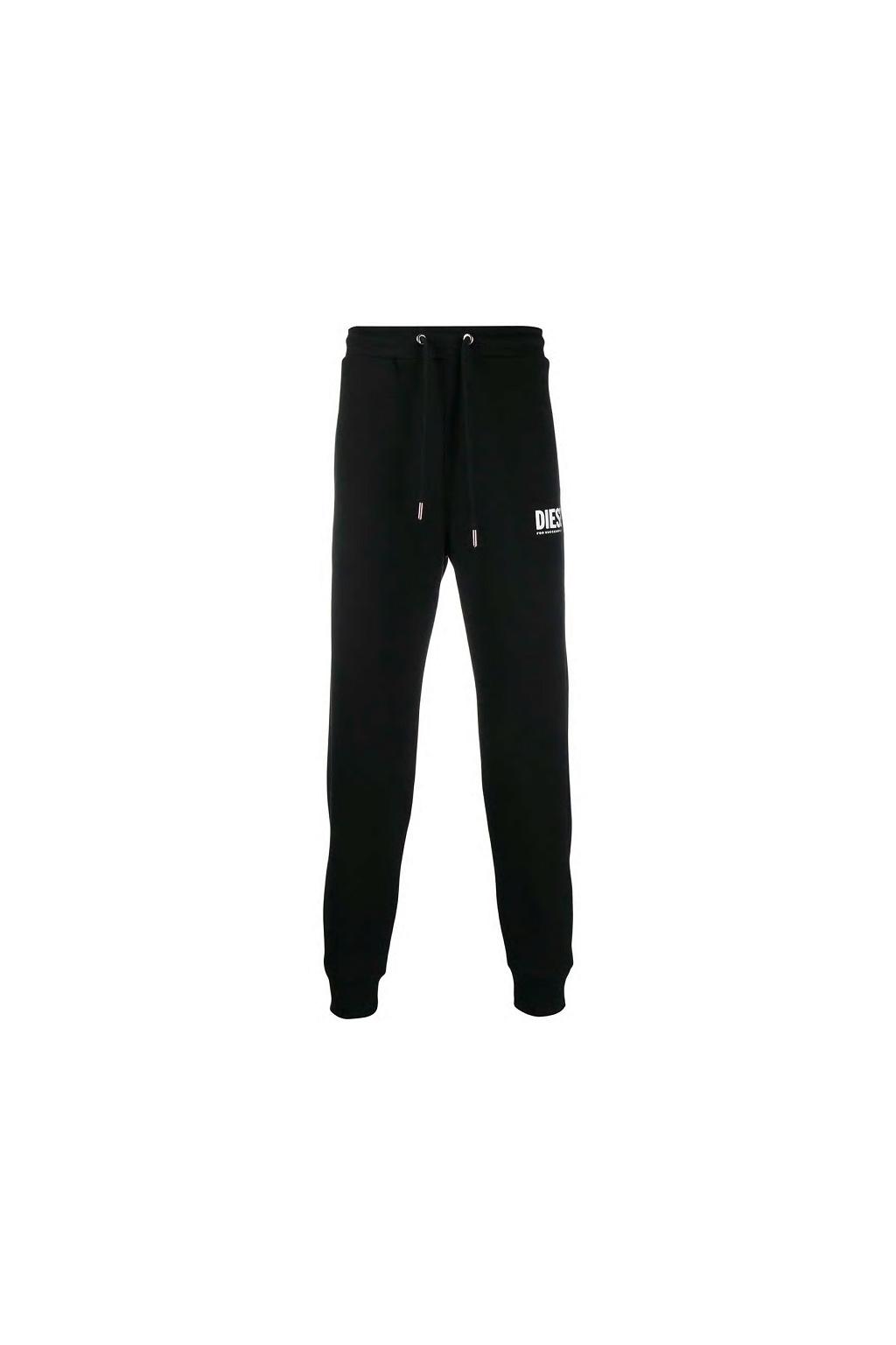 00SZLB 0BAWT Pánské teplákové kalhoty Diesel P Tary Logo černé