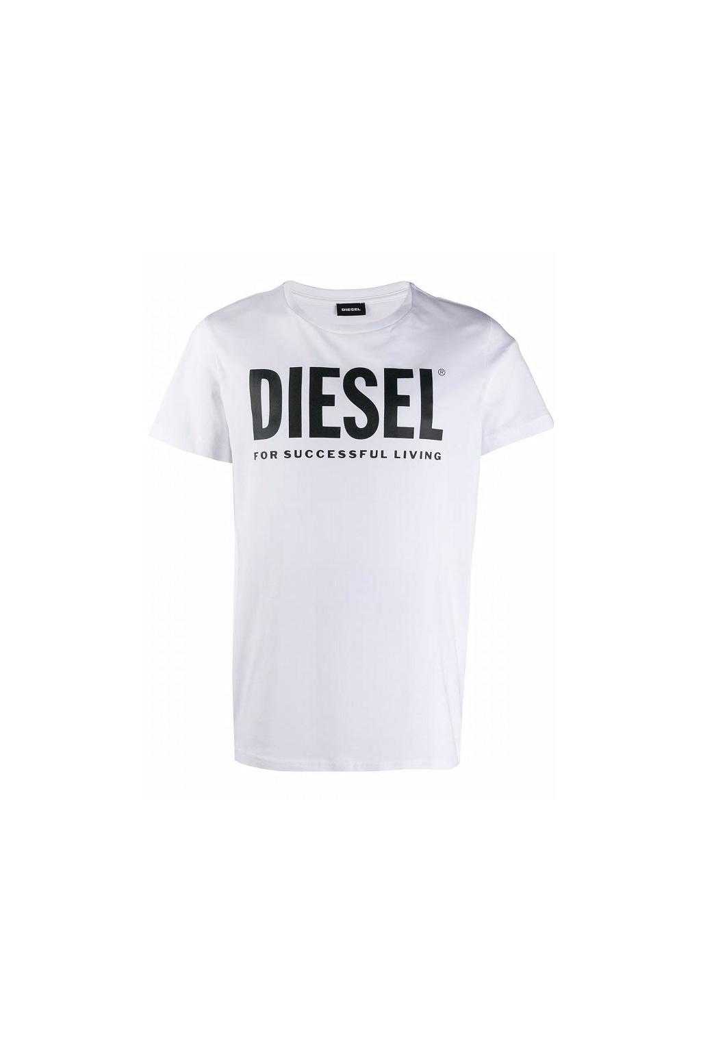 00SXED 0AAXJ Pánské Diesel tričko T Diego Logo bílé