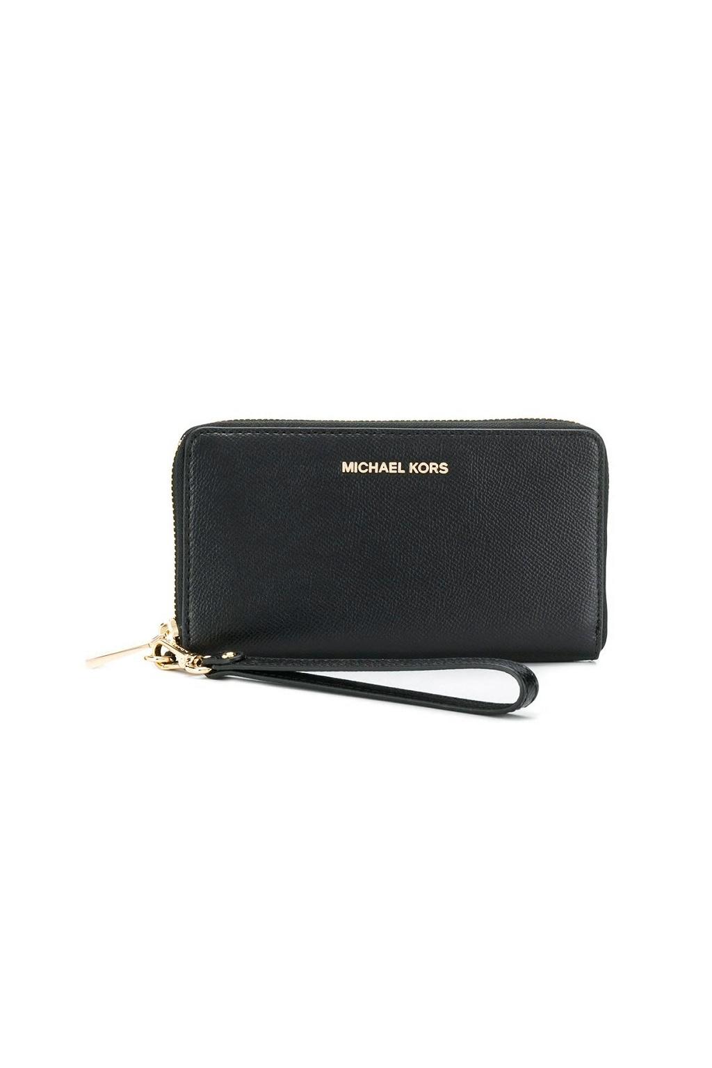 34F9GTVE9L Peněženka Michael Kors Jet Set Travel phone case leather černá